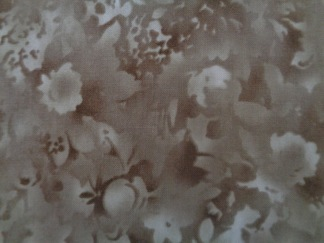 Bomullstyg bruna blommor (Fusions Bloom)