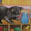Bomullstyg katter m m (Whiskers & Tails)