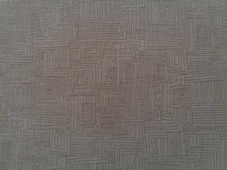 Bomullstyg brun labyrint (Bear Essentials)