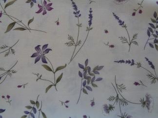 Bomullstyg lila blommor (The Potting Shed)