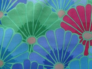 Bomullstyg blå blommor (Thousand Flowers)