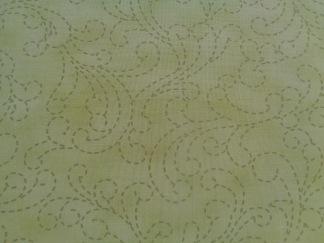 Bomullstyg gröna kviltstygn (Sunday Drive Prints)
