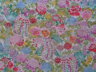 Bomullstyg vitt/rosa blommix (Regent Street Lawns)