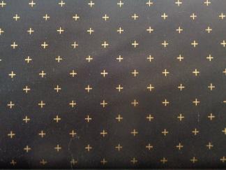 FYND! Bomullstyg svart/guld (Modern Background)