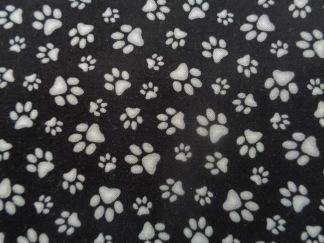 Bomullstyg svart-vita tassar (Adorable Pets)