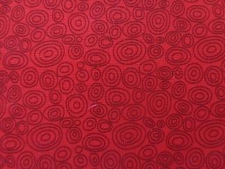 Bomullstyg röd cirkel (Bear Essentials)