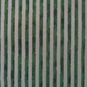 Bomullstyg grön-vit rand (Woodland Christmas)