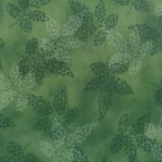 Bomullstyg gröna blad (Fusions Garden)