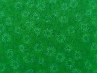 Bomullstyg grön blomma (Hopscotch)
