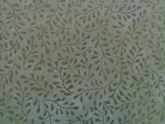 Bomullstyg grönt blad (Bella Suede)