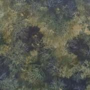 Bomullstyg grönt bladmönster (Fusions)