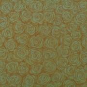 Bomullstyg gul ros (Hopscotch)