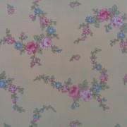 Bomullstyg rosa blomma (Little House)