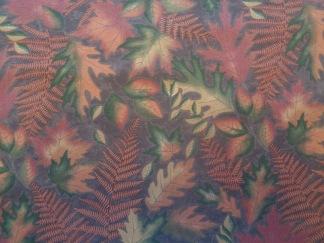 Bomullstyg rostbruna-gröna blad (Autumn Reflections)