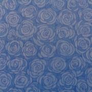 Bomullstyg blå blomma (Hopscotch)