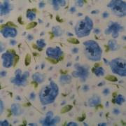 Bomullstyg blå blomma (June's Cottage)