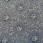 Bomullstyg blå blomma (Serene Spring)