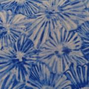Bomullstyg blå-vit blomma (Glass House)