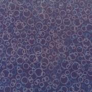 Bomullstyg blå cirklar (Suds)