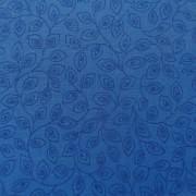 Bomullstyg blått blad (Bear Essentials)