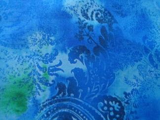 Bomullstyg blå medaljong (Dreamscape)