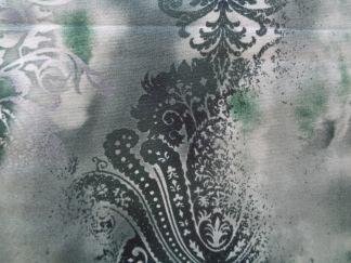 Bomullstyg grön medaljong (Dreamscape)