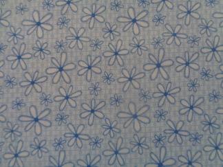 Bomullstyg blå blomma (Basically Hugs)
