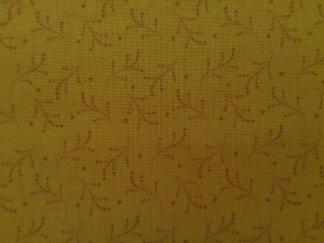 Bomullstyg orange mönster (Bear Essentials)