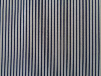 Bomullstyg blå-vit rand (Stella)