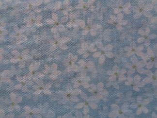 Bomullstyg ljusblå blomma (Arbor Hill)