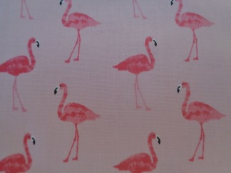 FYND! Bomullstyg rosa flamingos (Fruity Friends Flamingo)