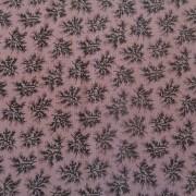 Bomullstyg lila och svart (Forget Me Not)