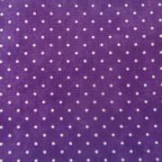 Bomullstyg lila prick (Essential Dots)