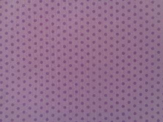 Bomullstyg lila prick (Spot On)