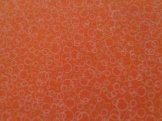 Bomullstyg orange cirklar (Suds)
