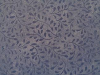 Bomullstyg blå blad (Bella Suede)