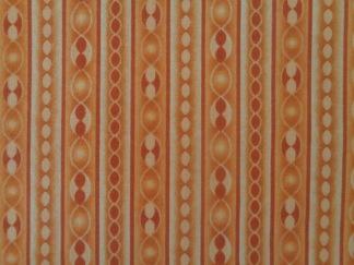 Bomullstyg orange ränder (Transformation)