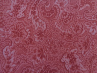 Bomullstyg rött paisleymönster (Mon Cheri)