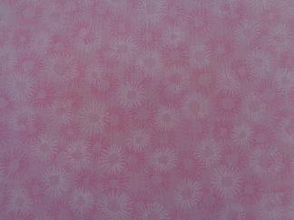 Bomullstyg rosa blommor (Hopscotch)