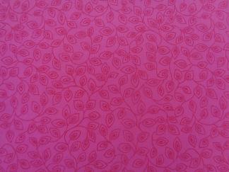 Bomullstyg rosa blad (Bear Essentials)