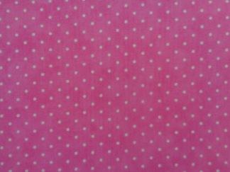 Bomullstyg rosa prick (Essential Dots)