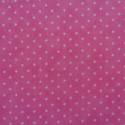 Bomullstyg rosa prick (Essential Dots)