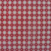 Bomullstyg röd ruta (Scandi Basics)