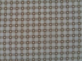 Bomullstyg beige ruta (Scandi Basics)