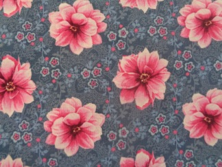 Bomullstyg rosa blomma (Newport Place)