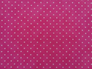 Bomullstyg rosa/prick (Essential Dots)