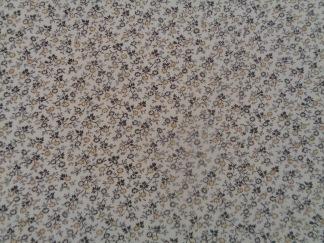Bomullstyg brun blomma (Makower)