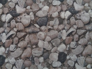 Bomullstyg grå stenar (Natural)