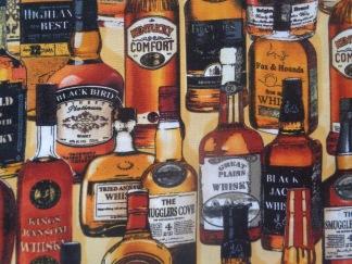 Bomullstyg whisky-flaskor (Man Cave)