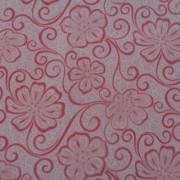 Bomullstyg röd blomma (Meadow Dance)